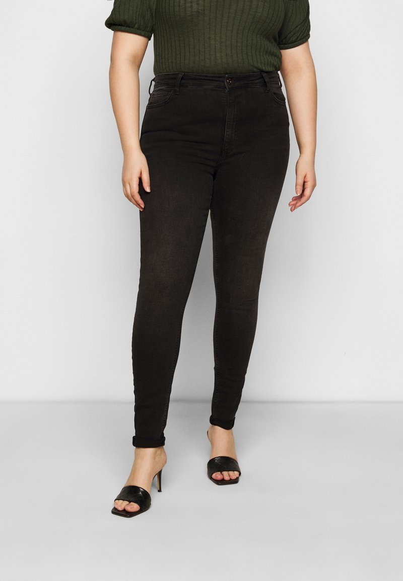 Pieces Curve - PCZENIA - Jeansy Skinny Fit - black