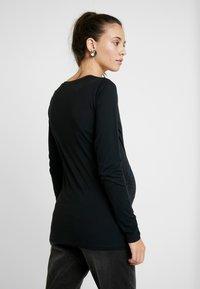 MAMALICIOUS - MLANNIA 2 PACK  - Camiseta de manga larga - black/snow white - 3
