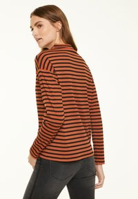 comma casual identity - Long sleeved top - cognac stripes - 2