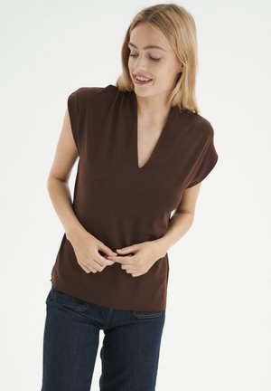 YAMINI KNTG - Basic T-shirt - coffee brown