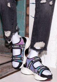 Ed Hardy - AQUA  - Walking sandals - iridescent charcoal - 3
