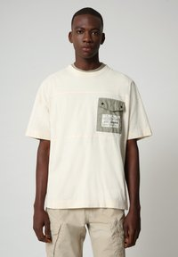 Napapijri - HONOLULU - Print T-shirt - new milk - 0