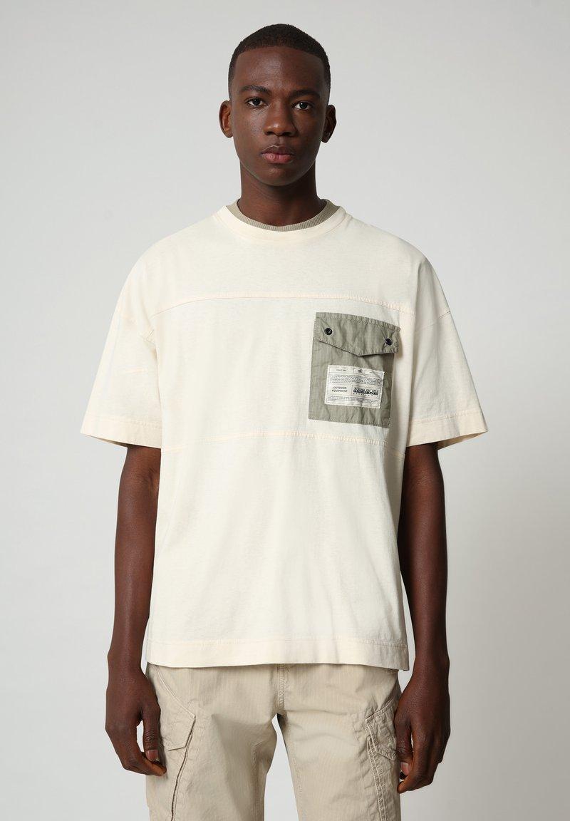 Napapijri - HONOLULU - Print T-shirt - new milk