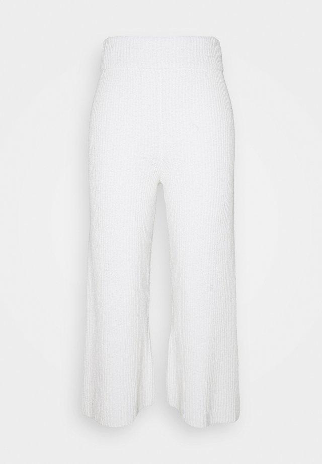 SUNNY WIDE LEG PANT - Pantalon classique - white