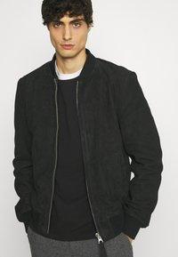 Schott - Leather jacket - navy - 3