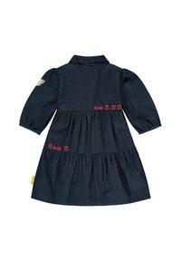 Steiff Collection - MIT LOGO- UND BLÜTENSTICKEREI - Denim dress - mood indigo - 1