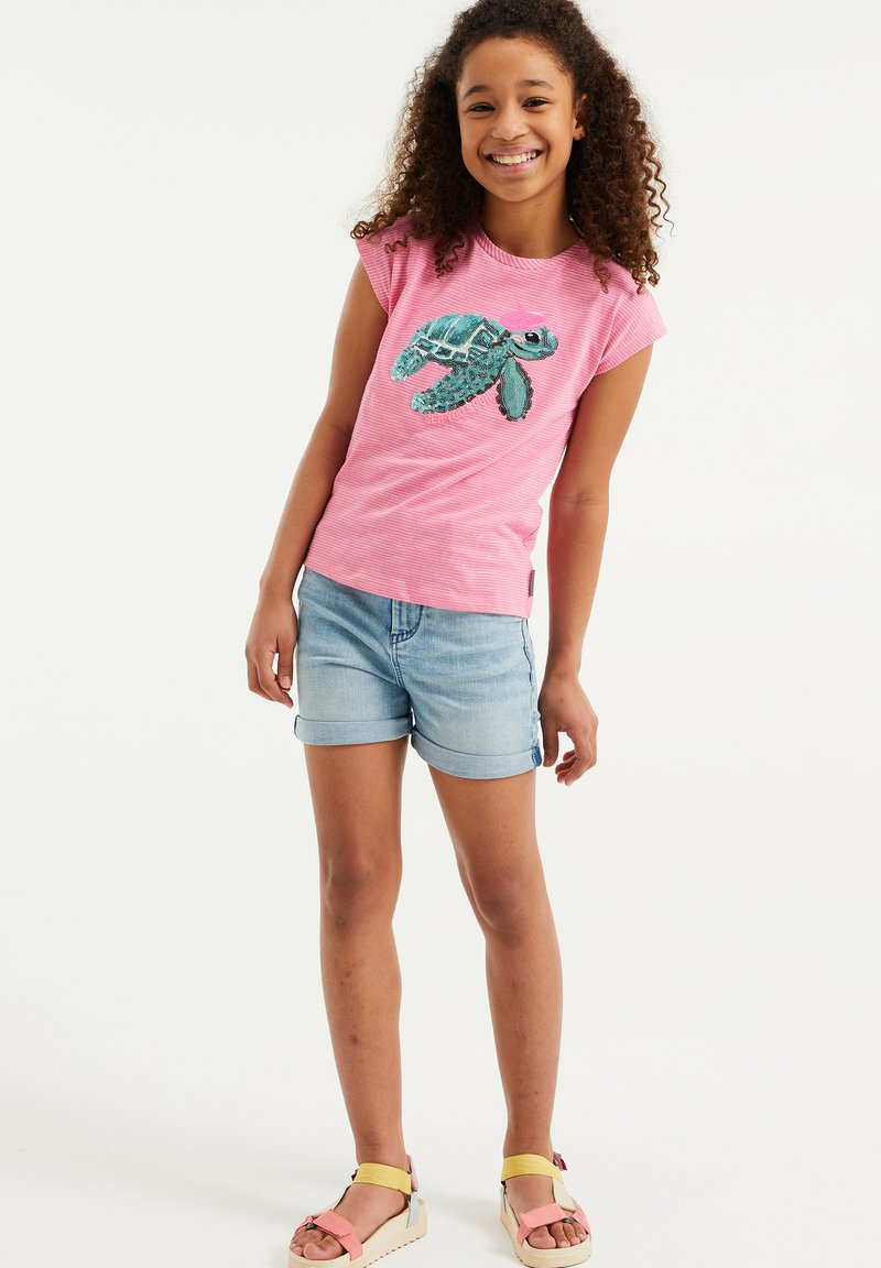 WE Fashion - Print T-shirt - pink