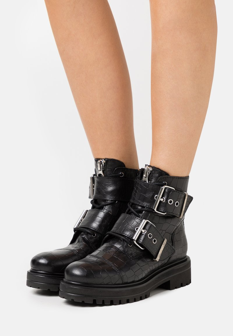 Buffalo - MIMI - Lace-up ankle boots - black