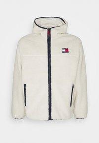 Tommy Jeans Plus - PLUS SHERPA ZIP THRU HOODIE - Fleece jacket - ecru - 5