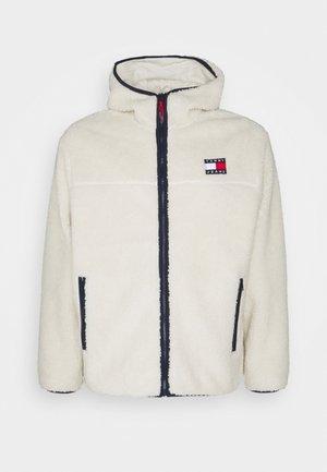 PLUS SHERPA ZIP THRU HOODIE - Fleece jacket - ecru