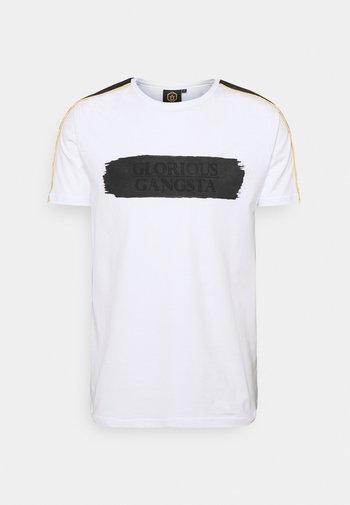 EMILIO TEE - Print T-shirt - optic white