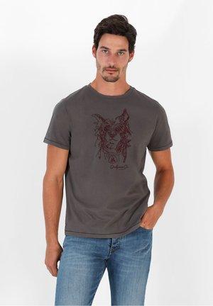 STITCH TEE II - Print T-shirt - dark grey