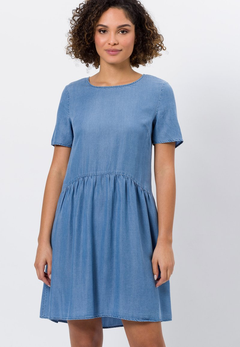 zero - Denim dress - mid blue soft wash