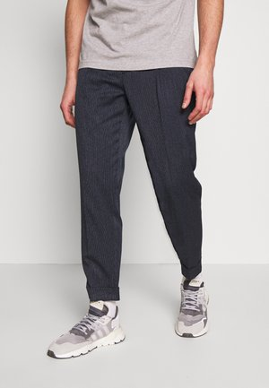 MOULINE TWILL  - Trousers - blue