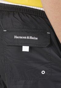 Harmont & Blaine - BOXER MARE IN TESSUTO TECNICO CON DETTAGLI A CONTRASTO - Swimming trunks - blu scuro - 3