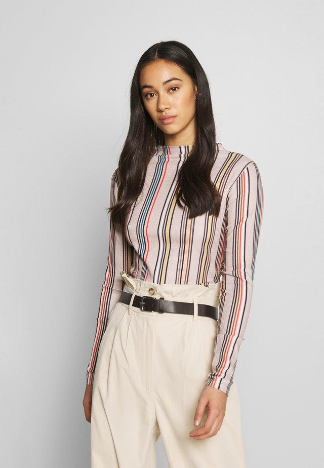 JAZMIN LONGSLEEVE - Long sleeved top - rot/beige/blau