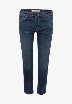 MIT WASHED-OUT-EFFEKT - Slim fit jeans - blue dark
