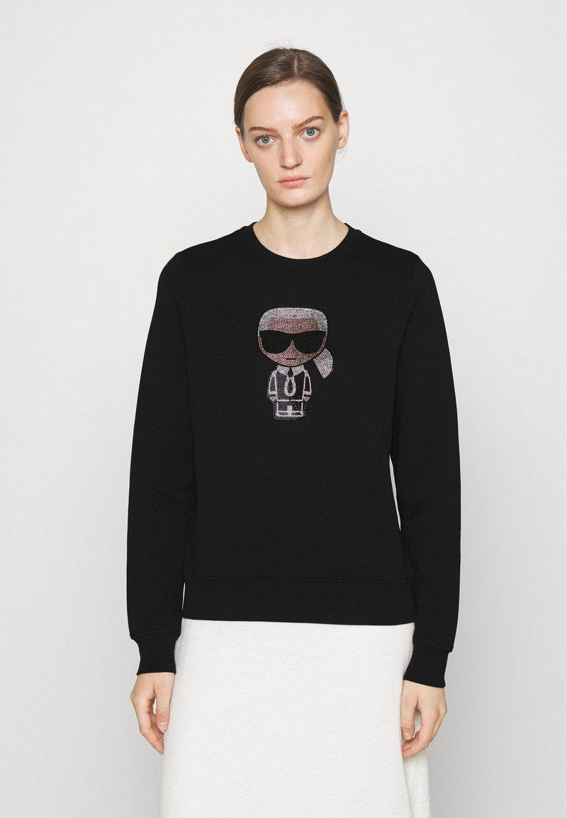 KARL LAGERFELD - IKONIK RHINESTONES - Sweatshirt - black