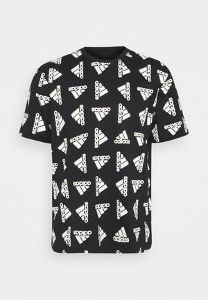 BLUV ESSENTIALS LOOSE - T-shirt con stampa - black