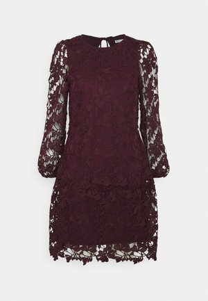 TIED DRESS - Sukienka koktajlowa - burgundy