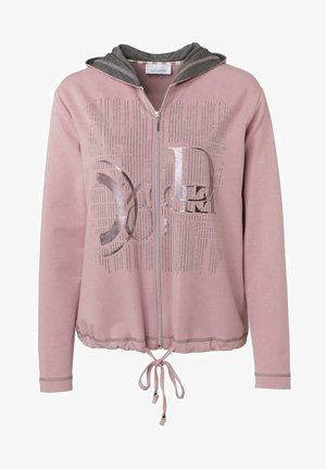 Zip-up hoodie - rose uni