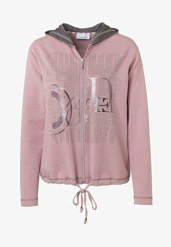 Zip-up hoodie - rose uni