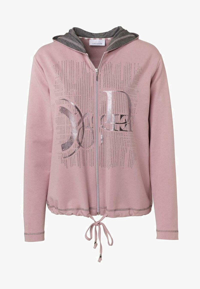 JUST WHITE - Zip-up hoodie - rose uni
