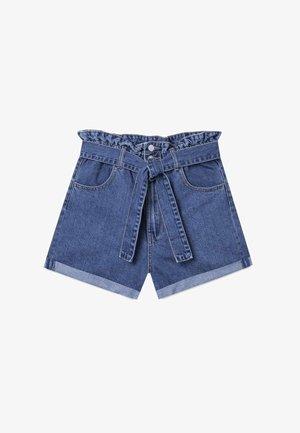 BAGGY - Denim shorts - blue
