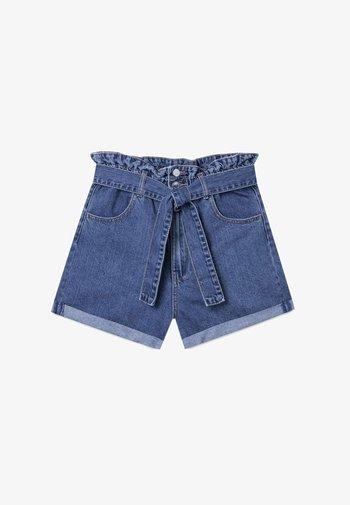 BAGGY - Jeansshort - blue