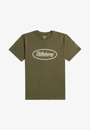 STATE BEACH  - Print T-shirt - military