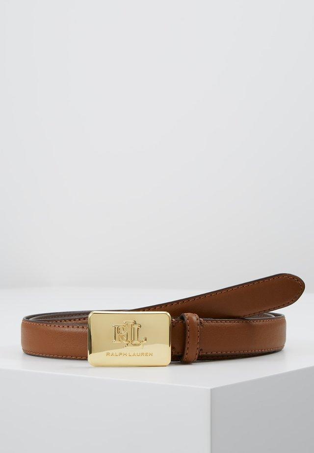 SUPER SMOOTH LOGO - Belte - field brown