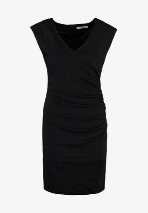 INDIA V NECK DRESS - Etui-jurk - black deep