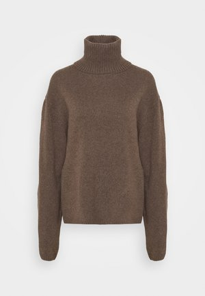 TURTLENECK JUMPER - Strikpullover /Striktrøjer - brown medium