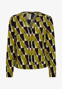 comma - Blouse - spring green big graphic - 4