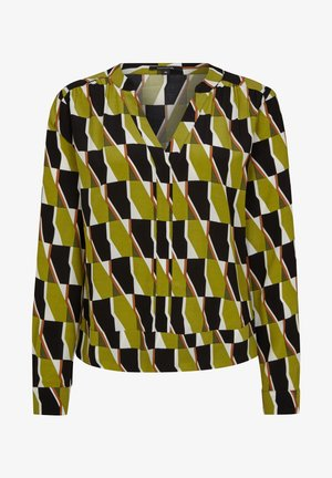 Blouse - spring green big graphic
