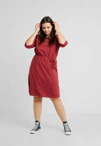 Ragwear Plus - TETUAN ORGANIC DRESS - Kjole - wine red - 1