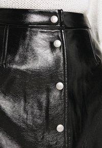 Calvin Klein Jeans - HIGH SHINE MINI SKIRT - A-line skirt - black - 5