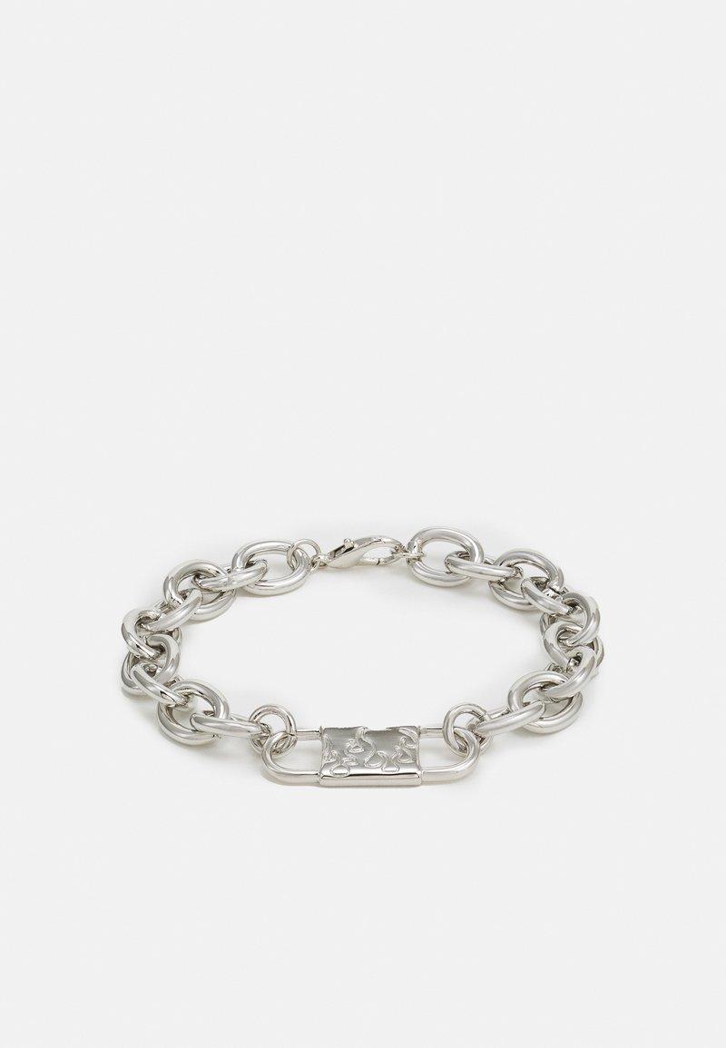 Uncommon Souls - CHUNKY ID LINK BRACELET - Bracciale - silver-coloured