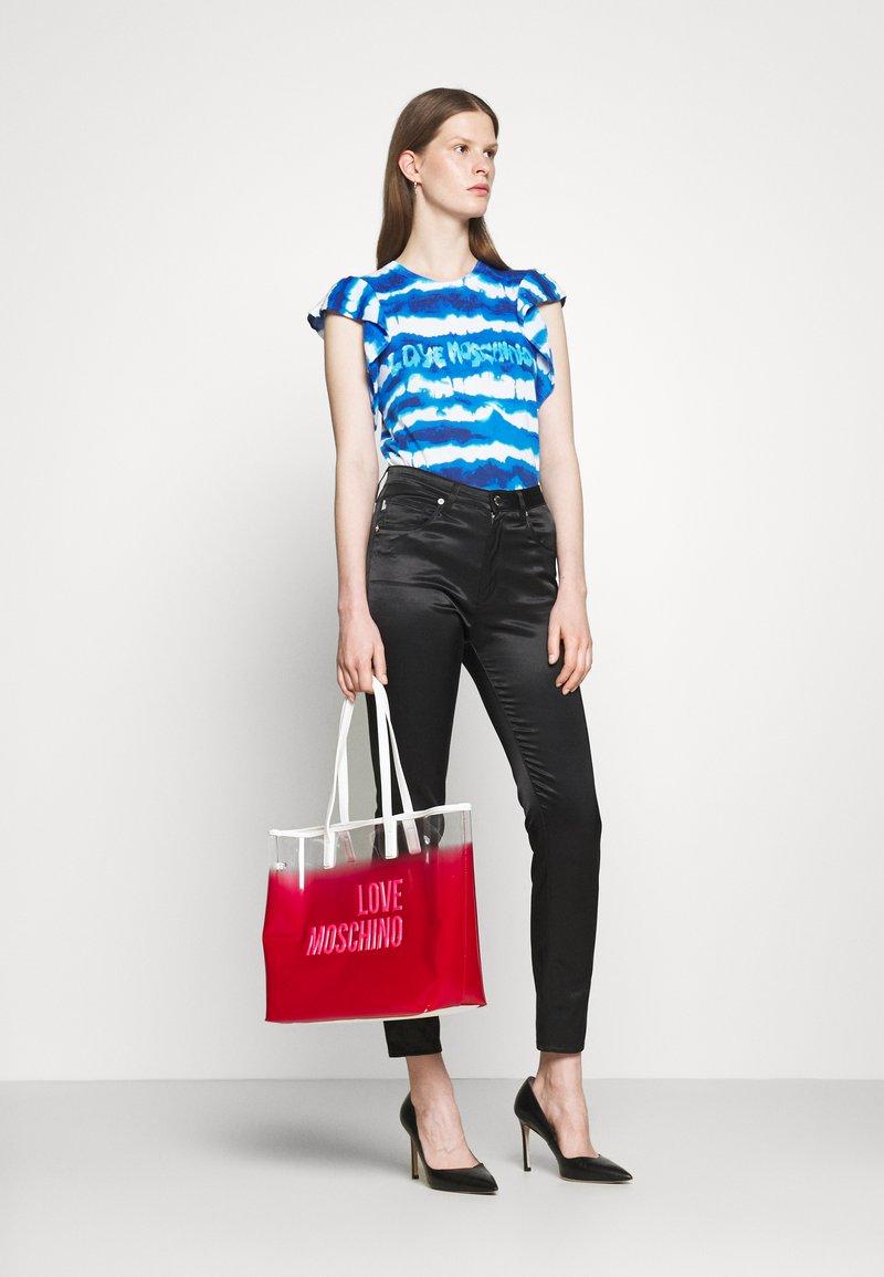 Love Moschino - TRANSPARENT LOGO SHOPPER SET - Tote bag - pink