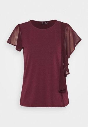 VMALBERTA FLOUNCE - T-shirts med print - winetasting