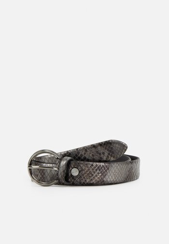 Belt - dark brown gun metal