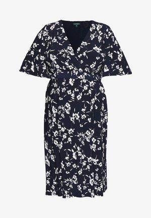 FRASIER SHORT SLEEVE DAY DRESS - Jersey dress - navy/cream/multi