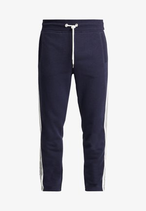 STRIPE PANTS - Träningsbyxor - evening blue