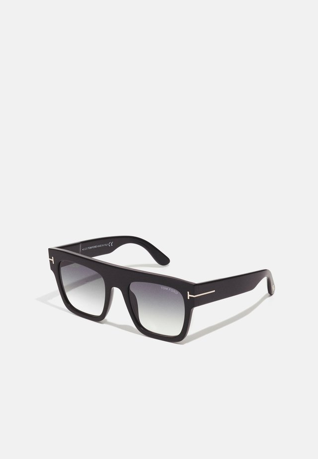 UNISEX - Zonnebril - shiny black/gradient smoke