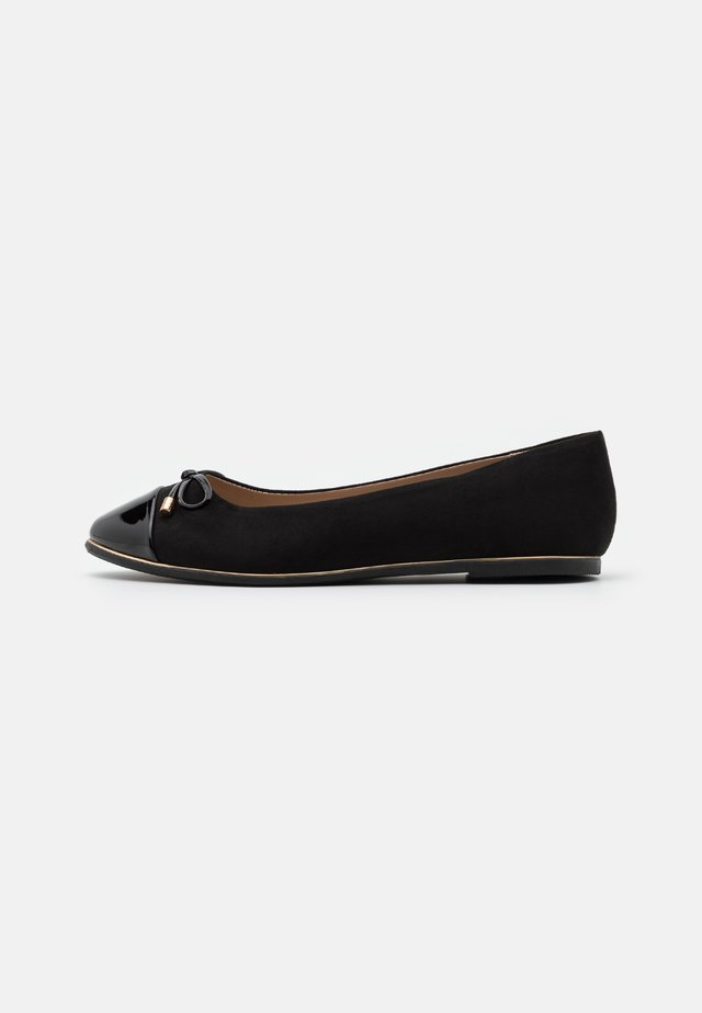 PINE TOE CAP RAND - Ballerines - black
