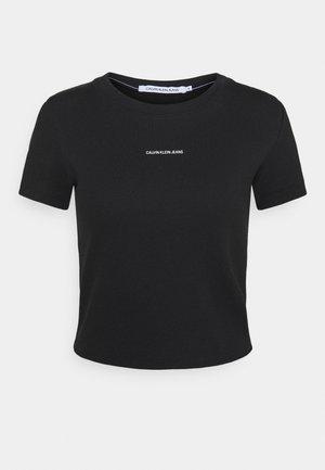MICRO BRANDING CROP - Basic T-shirt - black