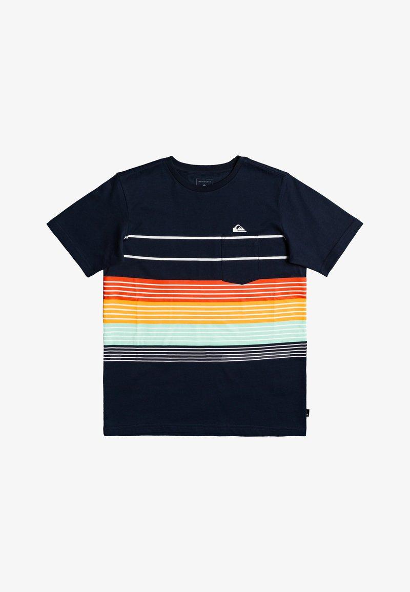Quiksilver - MORE CORE  - Print T-shirt - navy blazer