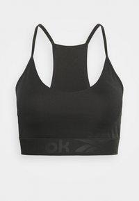 STRAPPY BACK BRA - Light support sports bra - night black