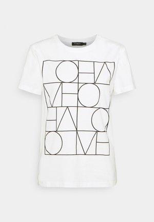 T-shirt print - broken white