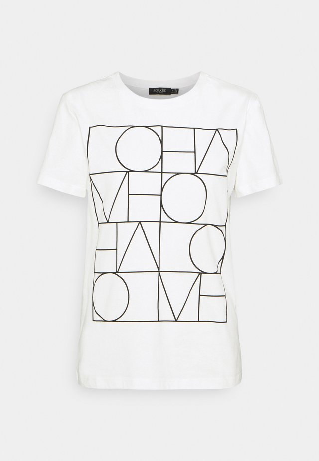 T-shirt med print - broken white